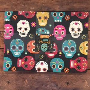 Other - Sugar Skull Place Mats Wipe Clean Halloween Set